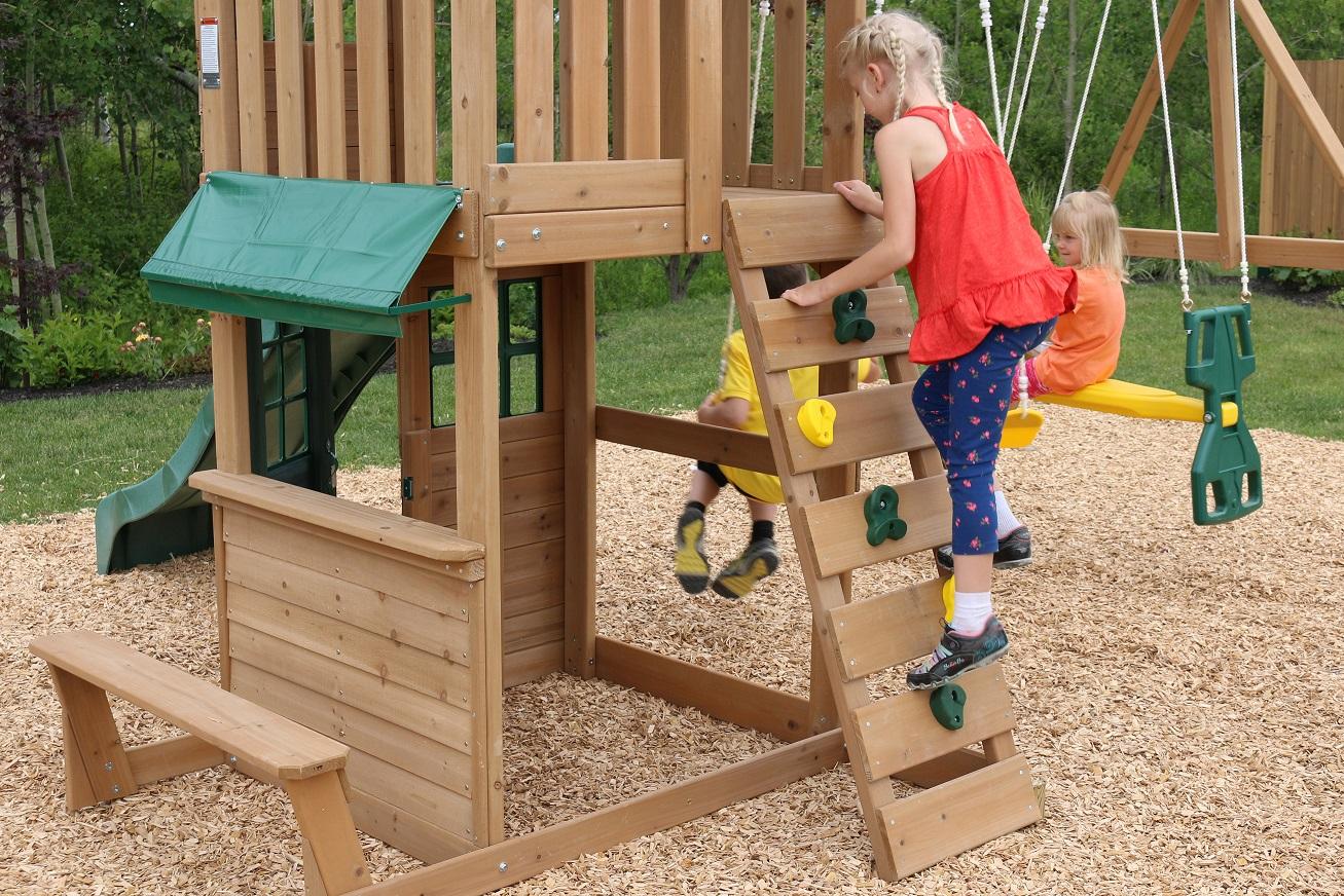 Parque para Niños de Madera Windale de Kidkraft - pared de escalada