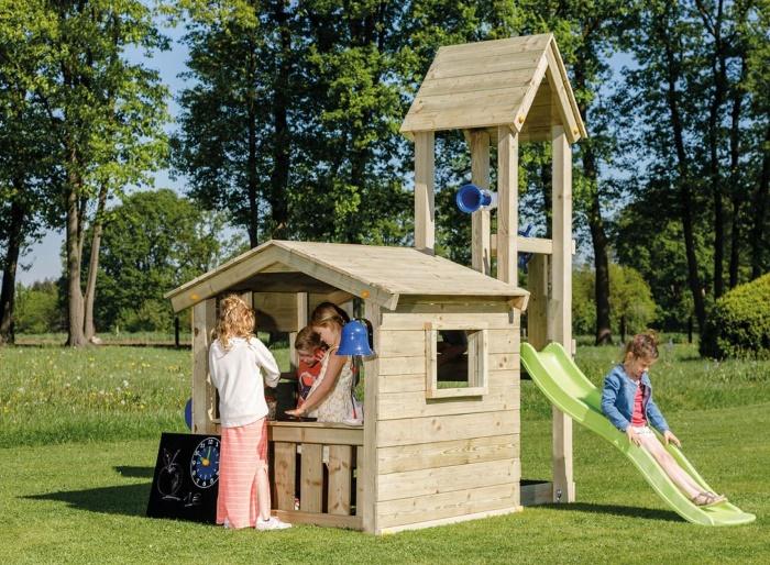 Parque infantil Lookout M - vista torre con casa