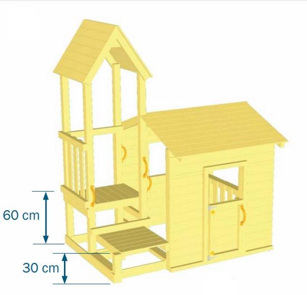 Parque infantil Lookout S - vista plano medidas plataformas