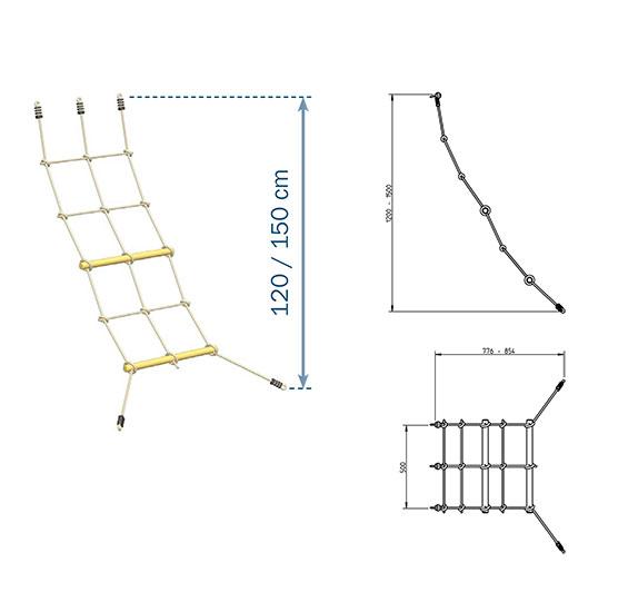 Red de Escalada - Grafico Medidas