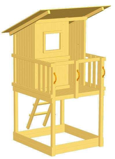 Torre de Madera para Niños Beach Hut con columpio
