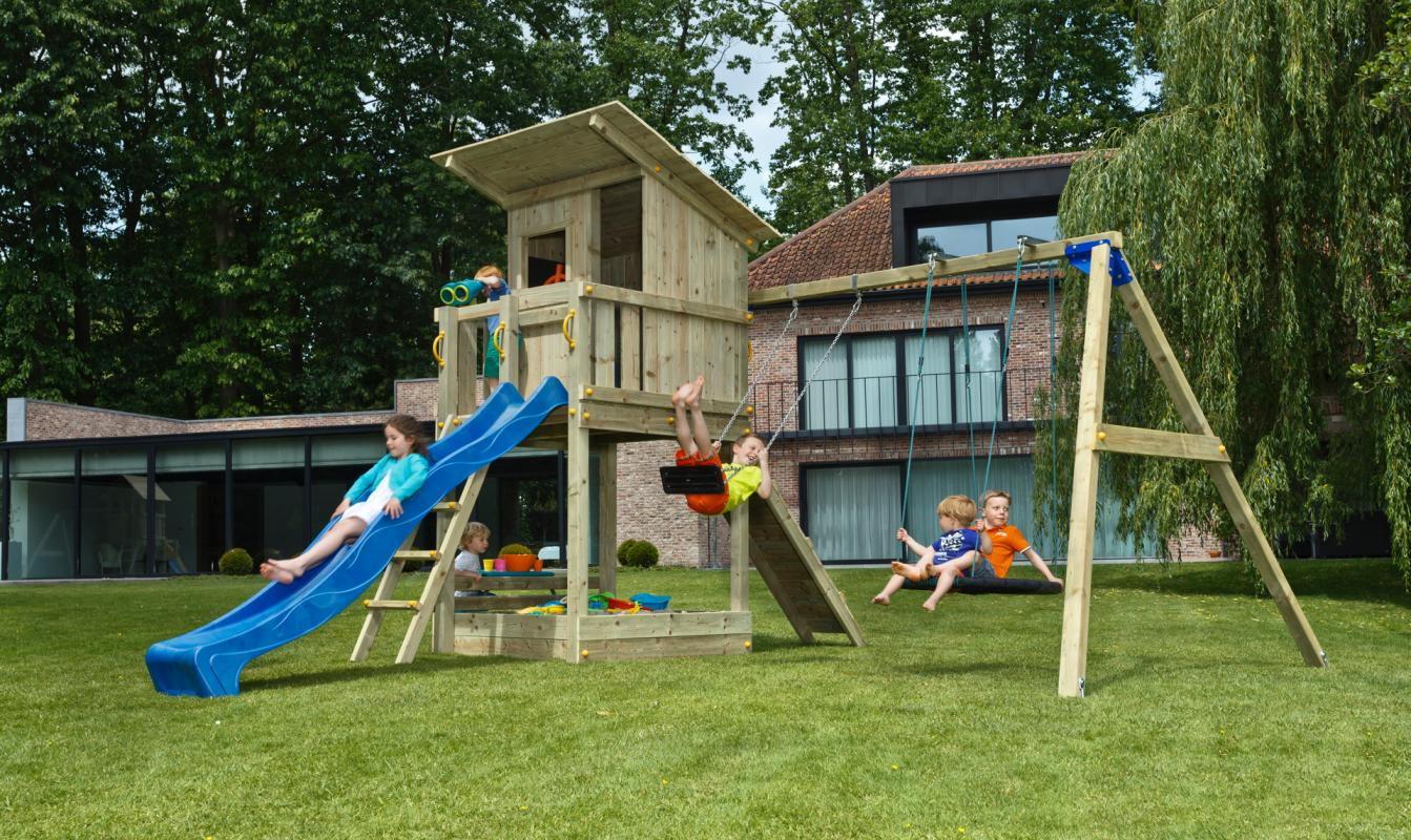Torre infantil Beach Hut con Columpio Doble