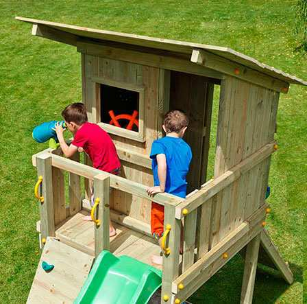 Torre de Madera para Niños Beach Hut XL - Vista plataforma