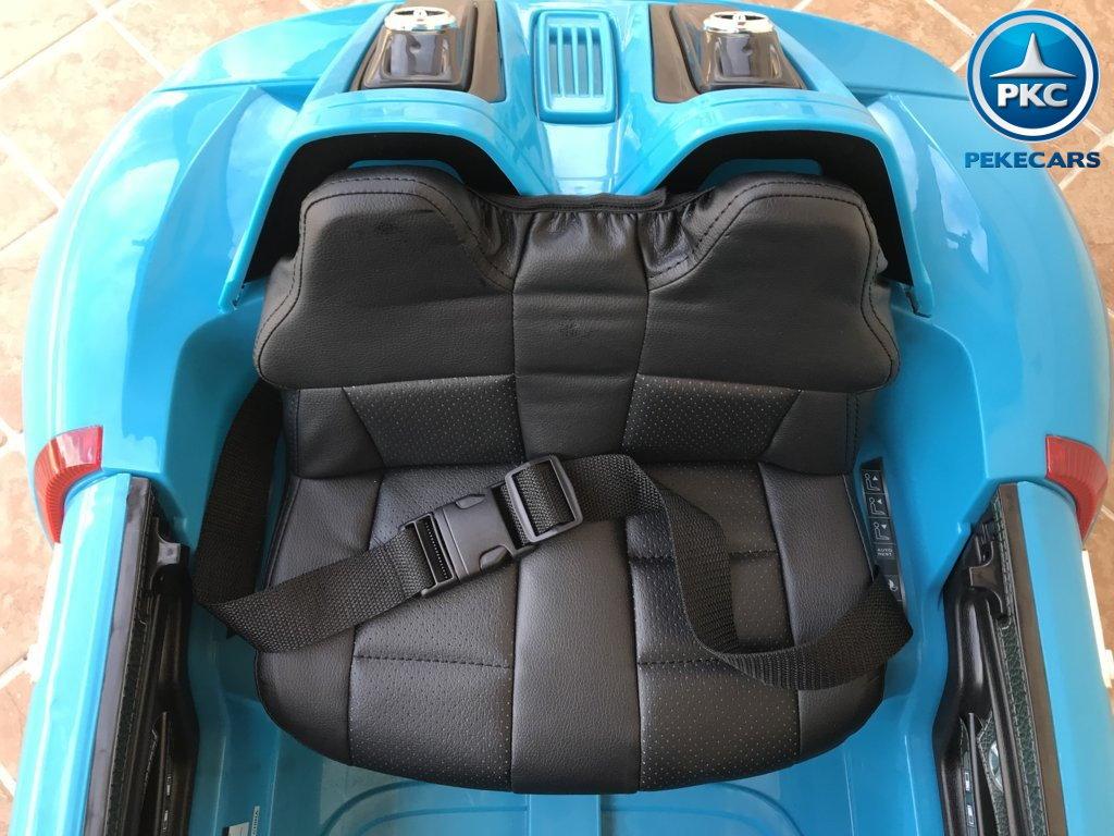 porsche style 12v azul asientos width=