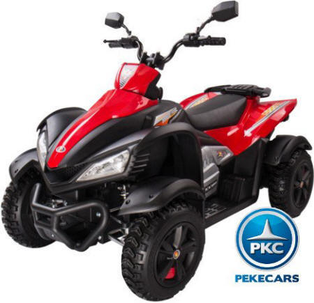 Pekecars giga quad 12v red