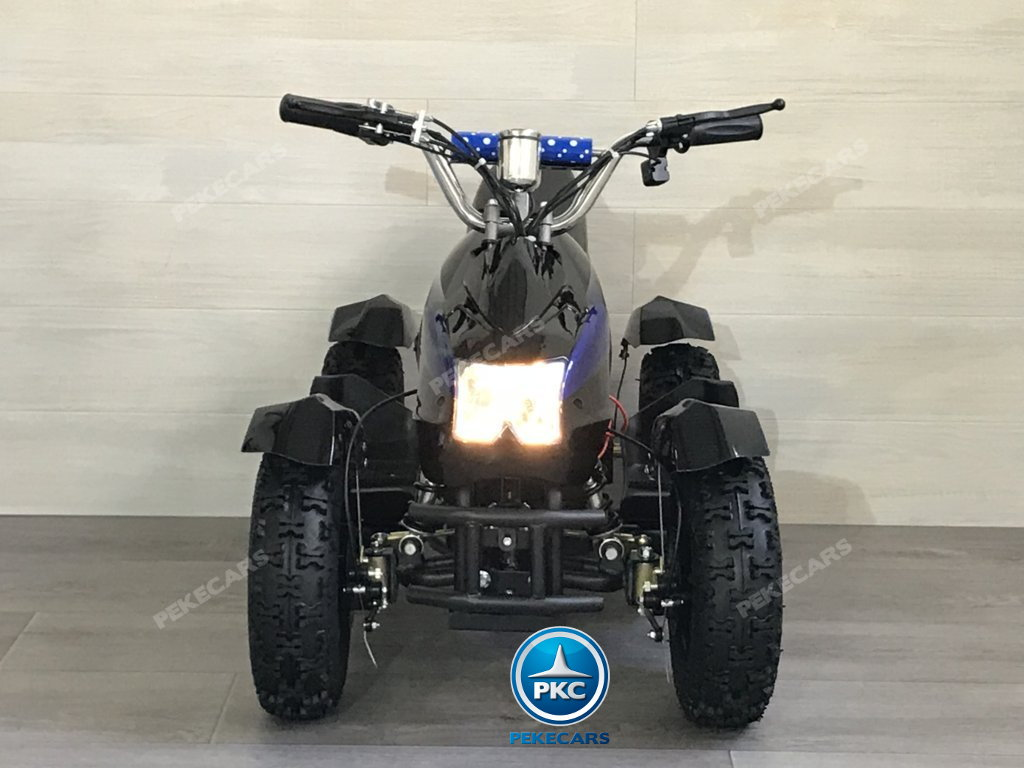 QUAD ELÉCTRICO COBRA 800W 36V NEGRO/AZUL - FRONTAL
