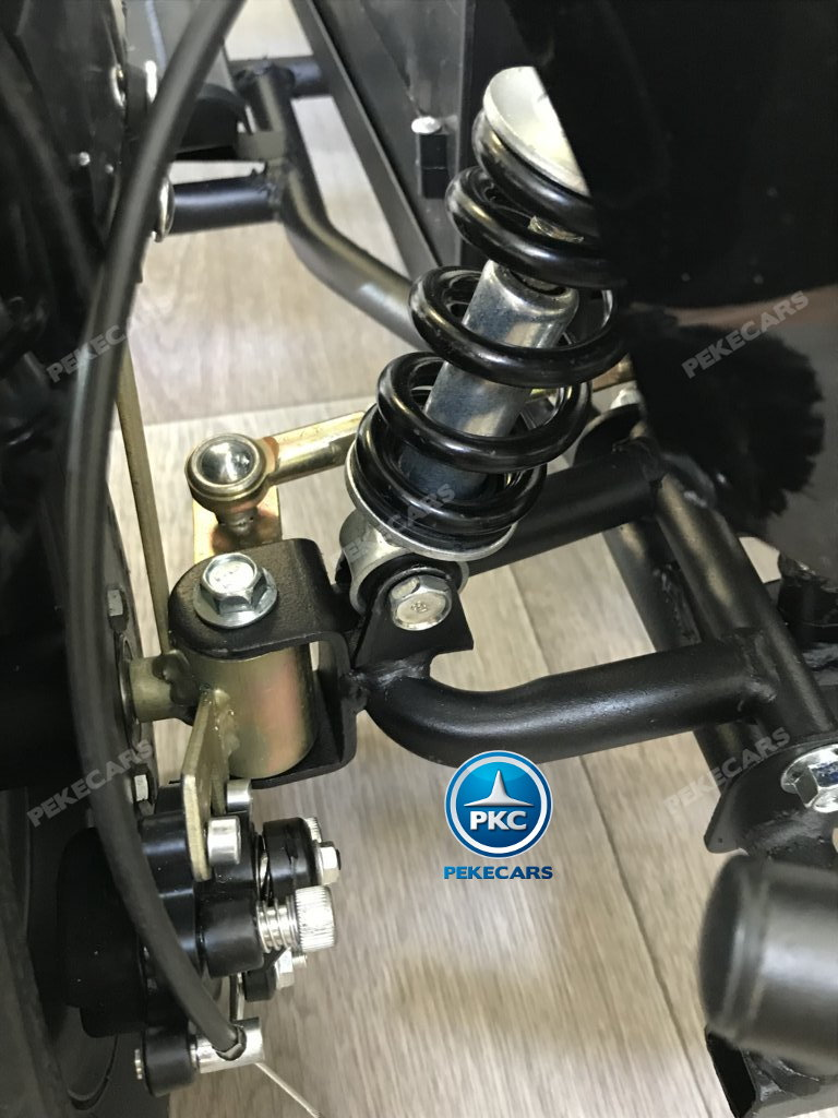 QUAD ELÉCTRICO COBRA 800W 36V BLANCO - Vista amortiguador