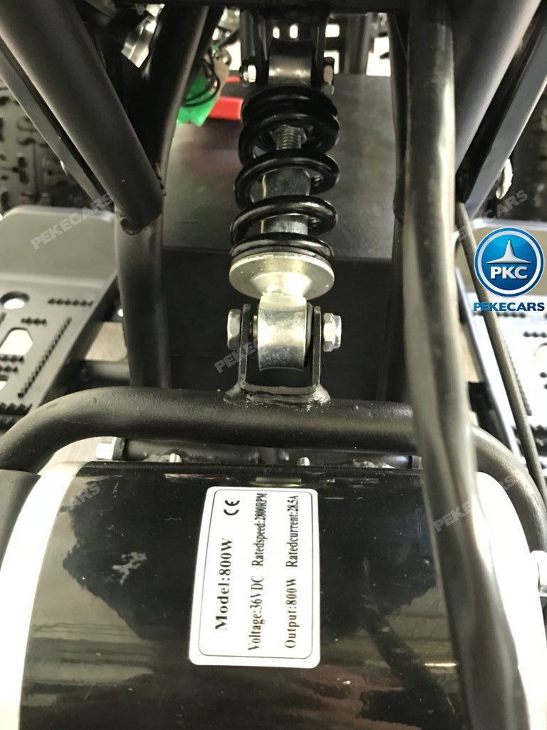 QUAD ELÉCTRICO COBRA 800W 36V BLANCO - Zoom amortiguador width=