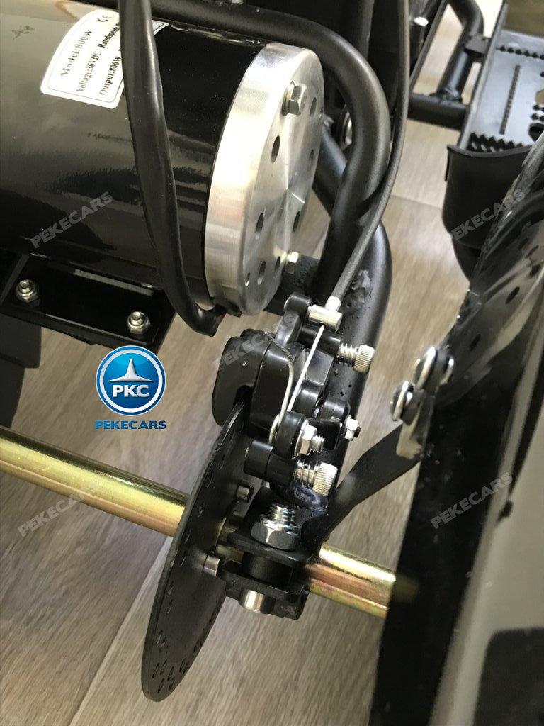 QUAD ELÉCTRICO COBRA 800W 36V BLANCO - Vista freno de disco width=