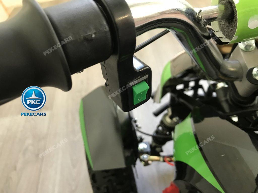 QUAD COBRA VERDE 36V - boton de encendido de las luces