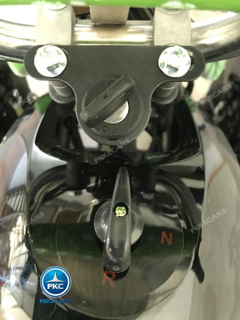 QUAD COBRA VERDE 36V - llave de encendido y control de marcha delantera y trasera