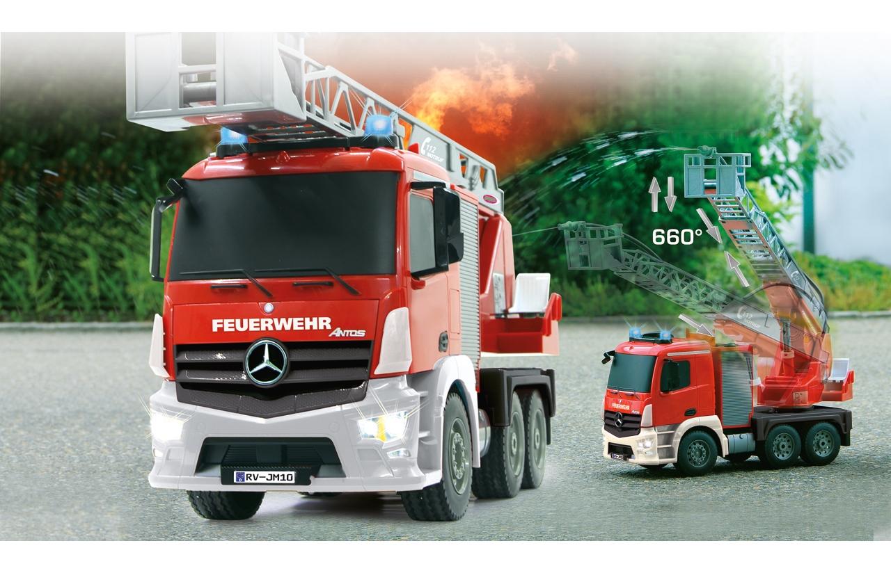 Camión de bomberos rojo radio control Jamara