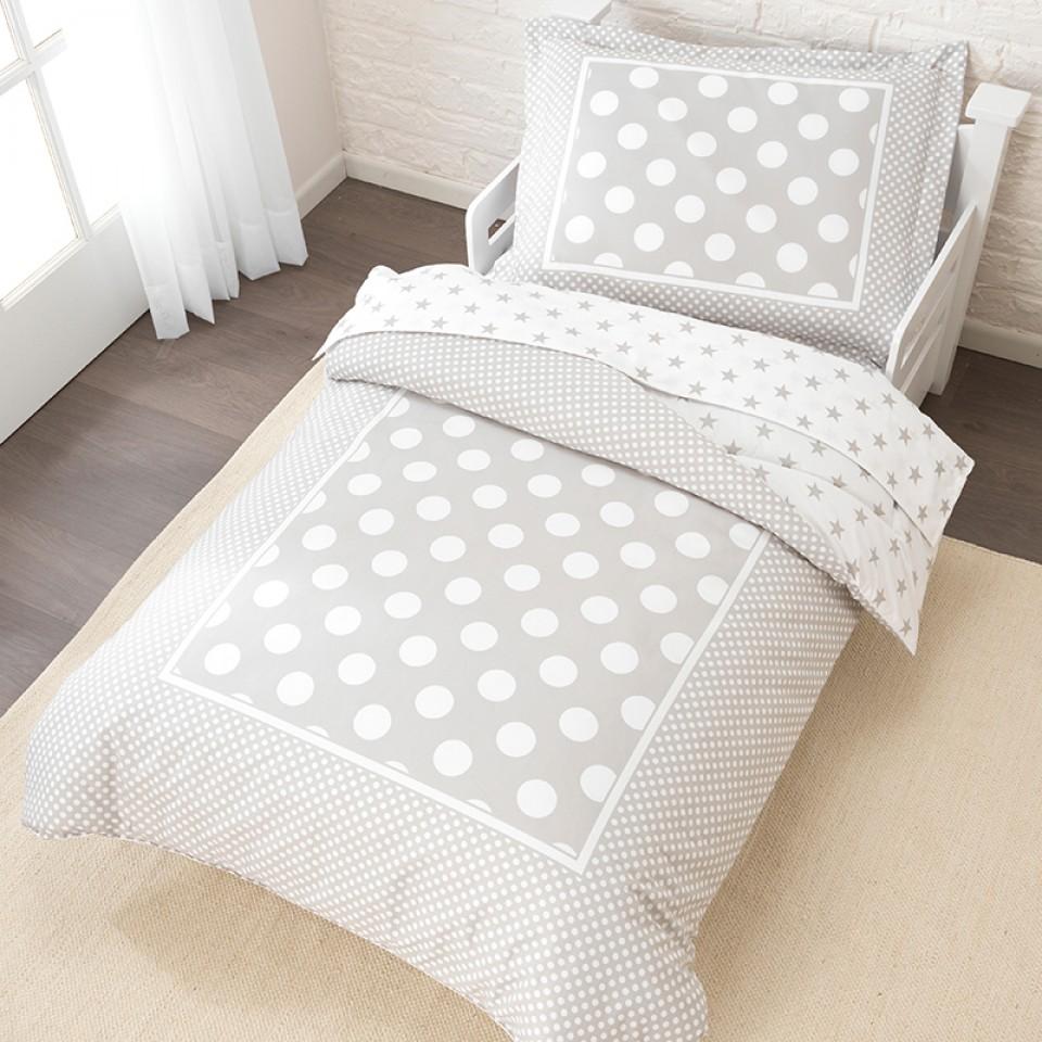 Kidkraft ropa de cama de estrellas y lunares gris 77009 - Ropa de cama textura ...