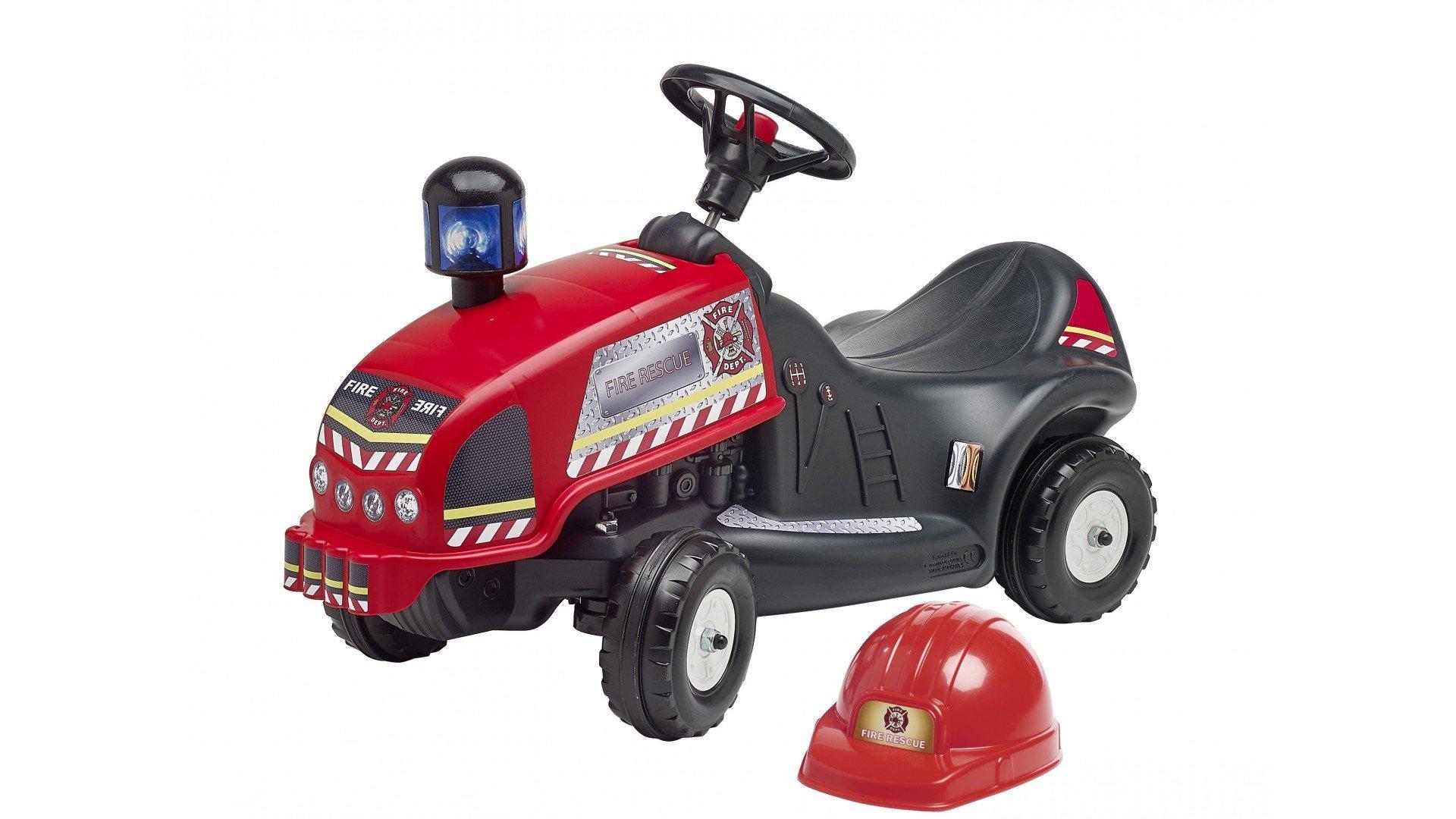 Correpasillos Tractor Rojo Rescate Bomberos Con Casco