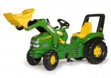 Tractor pedales JD X-Trac con pala