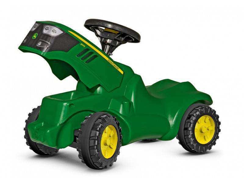 Detalle con capó abierto mini tractor John Deere 6150 R width=