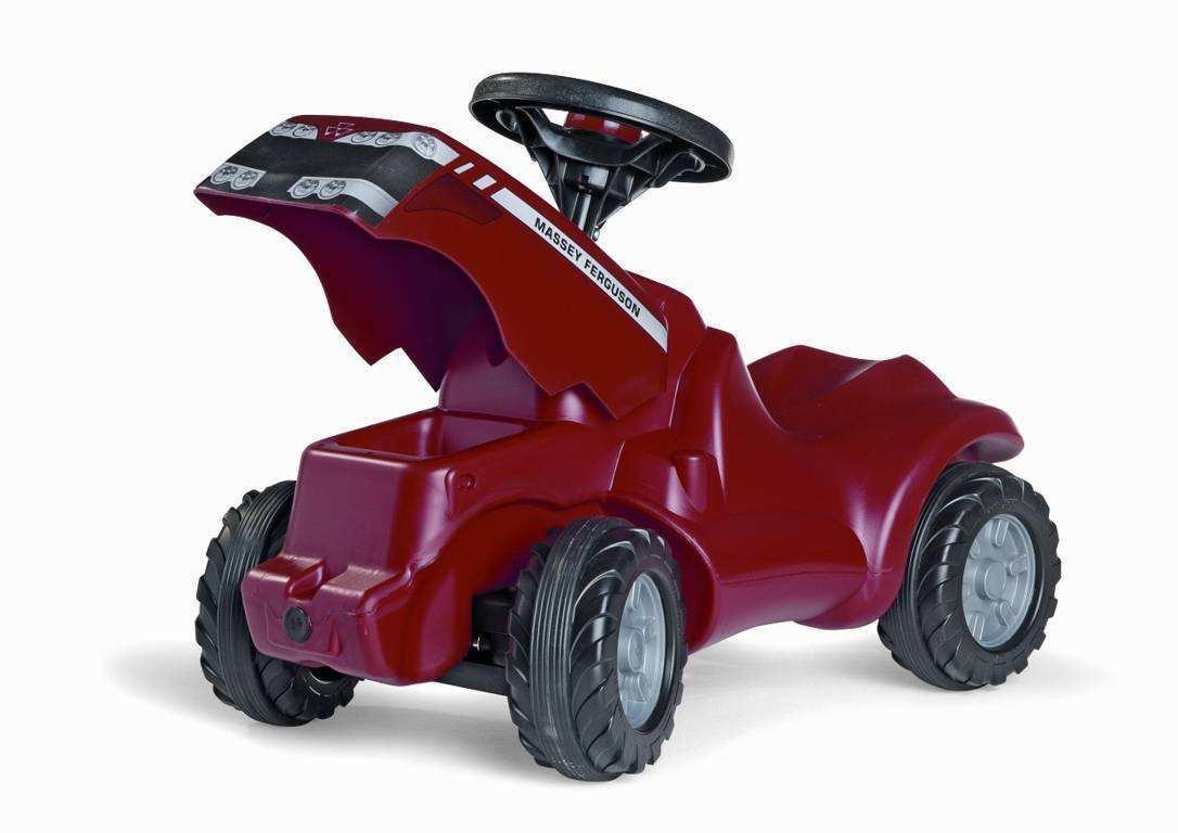 Detalle capó abierto mini tractor Massey Ferguson