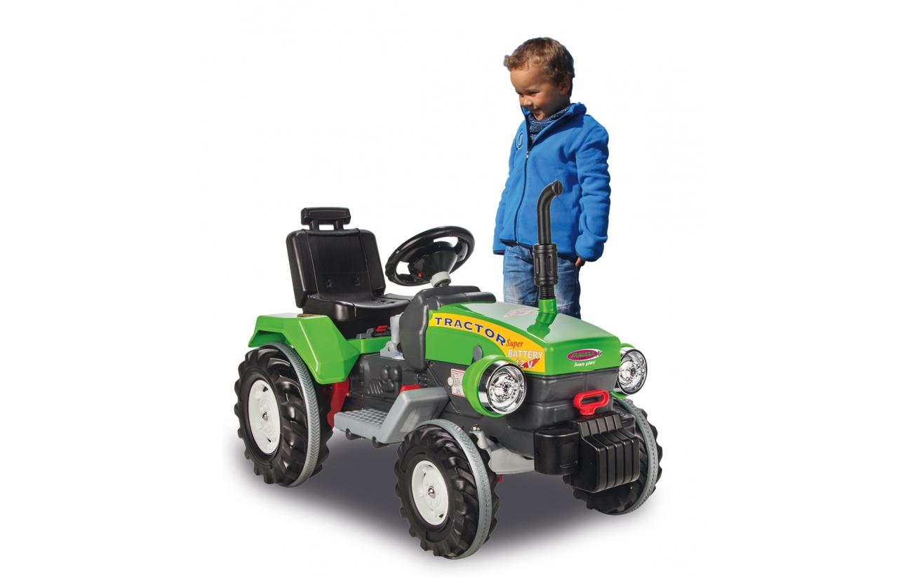 Tractor eléctrico verde 12v