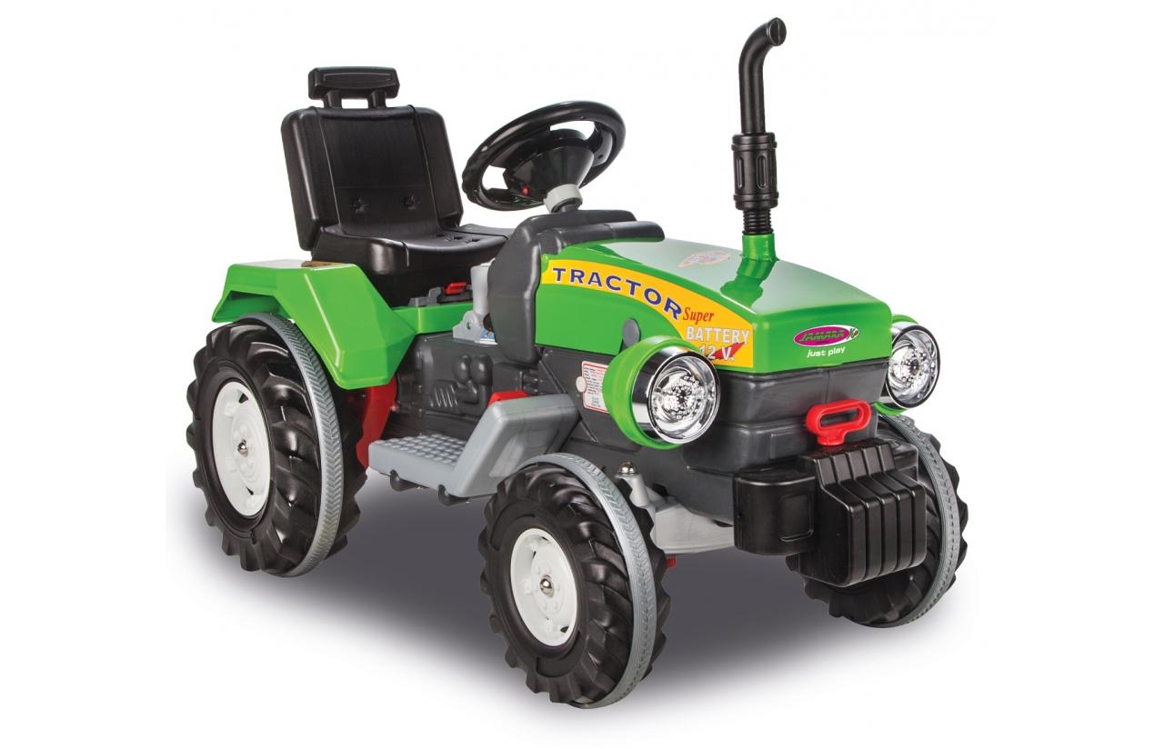 tractor electrico verde jamara