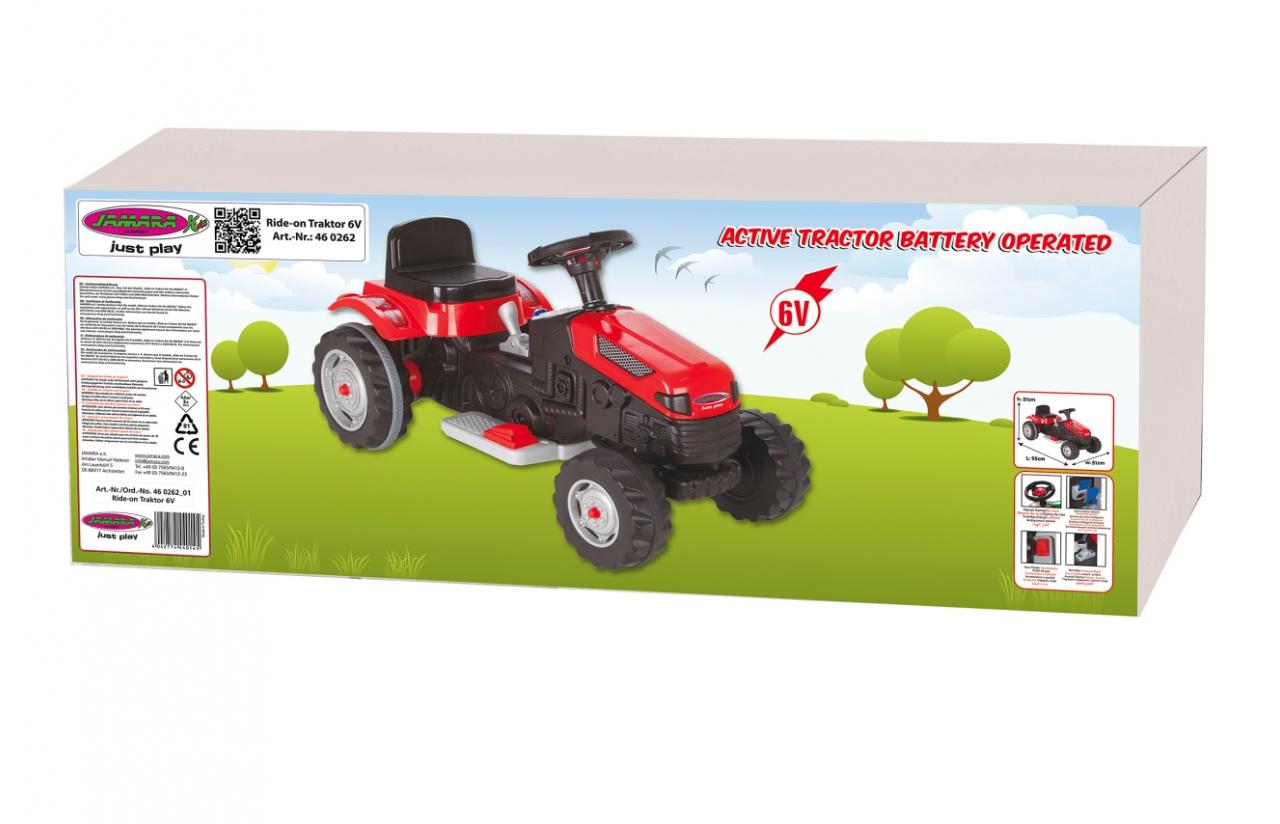 tractor eléctrico rojo jamara