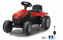 Tractor Strong Bull Rojo 6V + Remolque