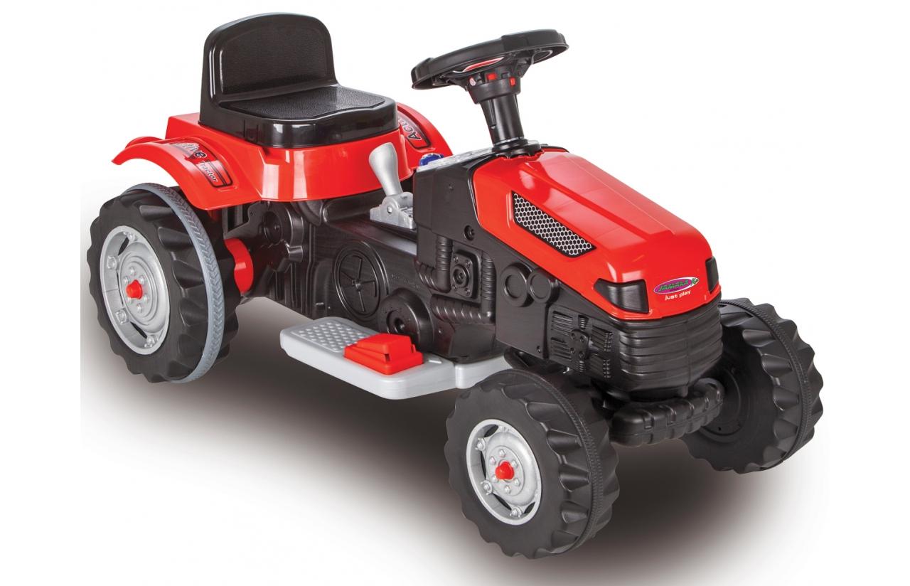 tractor 6v rojo