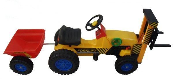 Tractor carretilla a pedales inforchess con remolque