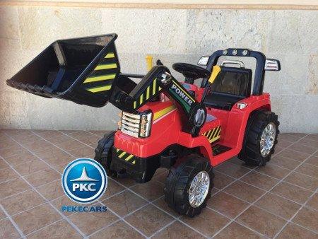 TRACTOR ELÉCTRICO PALA EXCAVADORA DELANTERA 12V 2.4G S/H SPEED CASE III STYLE