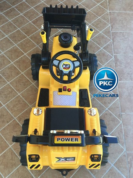 TRACTOR ELÉCTRICO PALA EXCAVADORA DELANTERA 12V 2.4G S/H SPEED CAT STYLE 4 width=