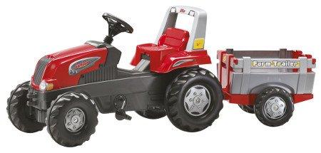 Tractor de pedales - rolly junior con remolque