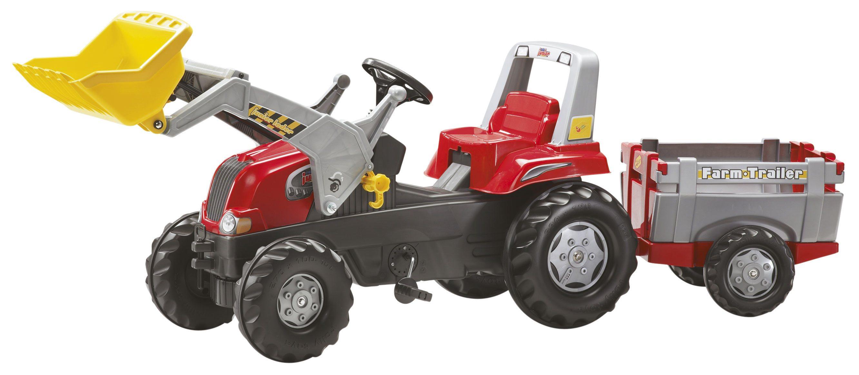 Tractor de pedales - rolly junior con pala excavadora y remolque
