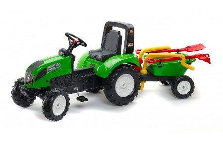 Tractor falk garden master + remolque + accesorios