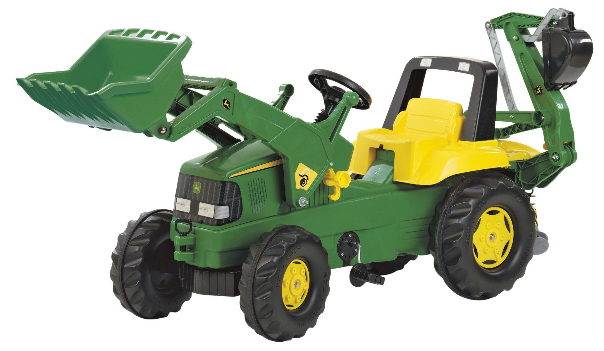 Pala Con Deere Excavadora Y Tractor Delantera John Retroexcavadora PZkXuiTO