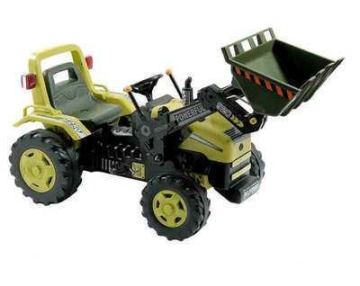 Tractor con pala excavadora delantera inforchess