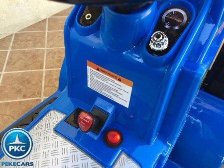 TRACTOR ELÉCTRICO PALA EXCAVADORA DELANTERA 12V 2.4G S/H SPEED NEW HOLLAND STYLE 6 width=