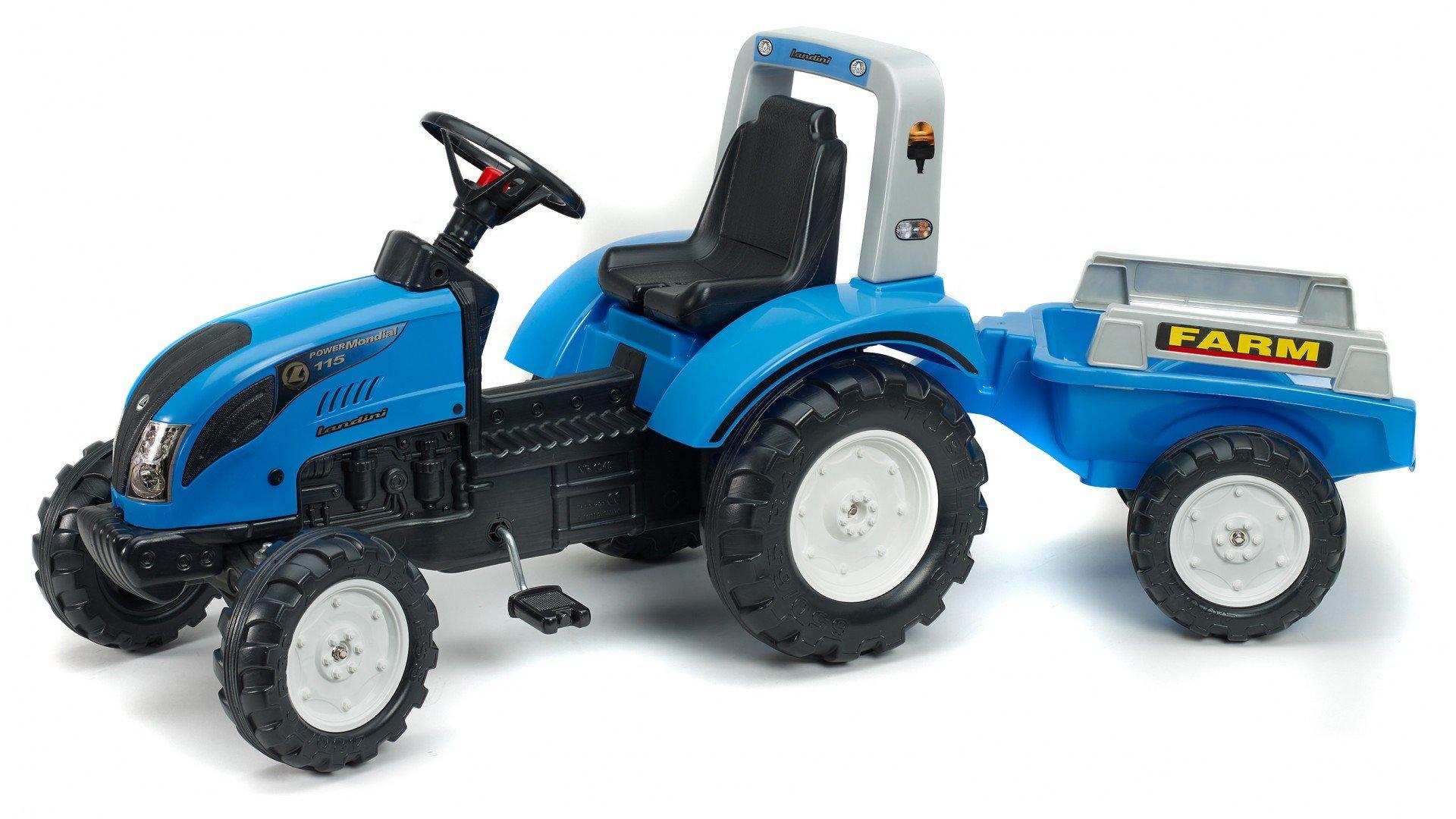 Tractor Pedales Landini Powermondial 115 + Remolque width=
