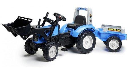 Tractor pedales landini powermondial 115 con pala delantera + remolque