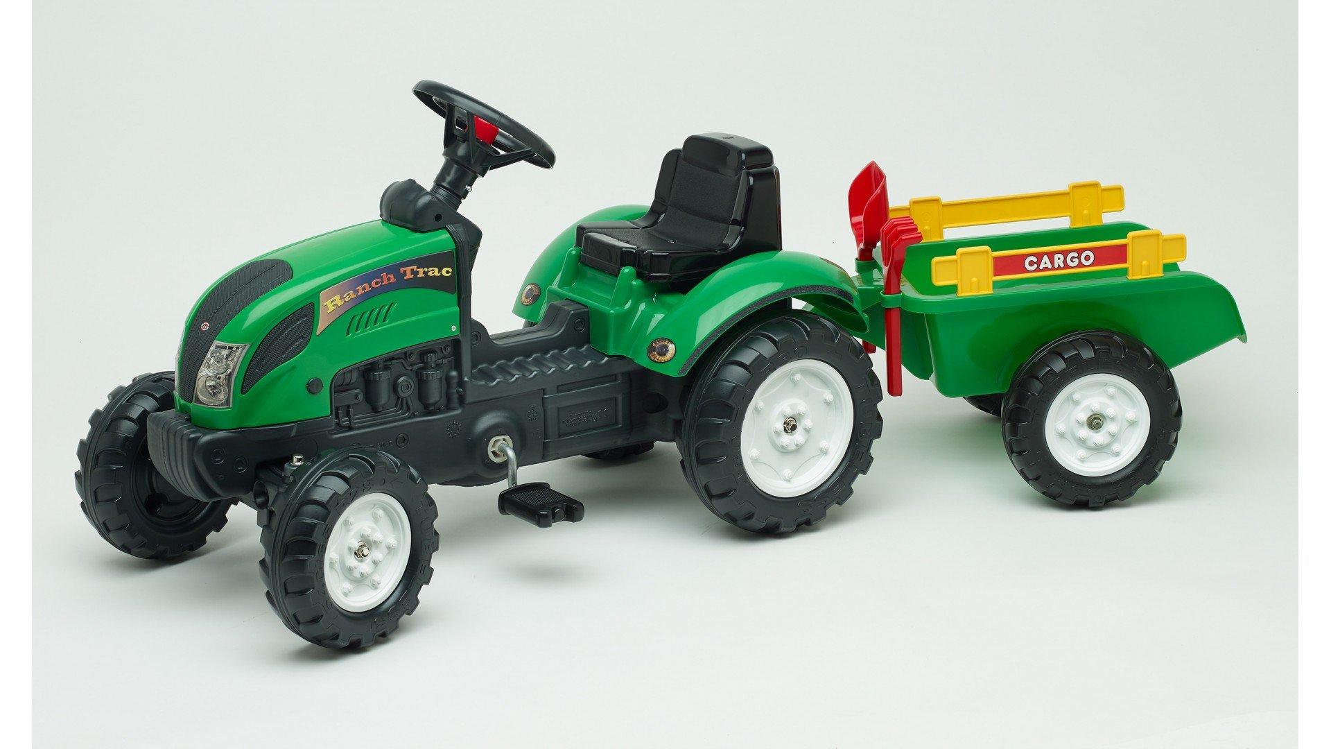 Verde Y Pedales Tractor Rastrillo Con Ranch Trac RemolquePala qSMjLzVUpG