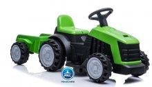 Tractor electrico 6v con remolque verde