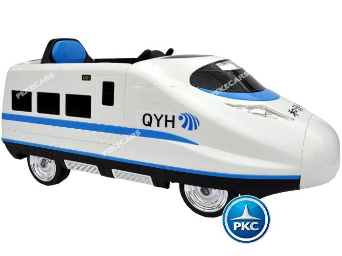tren eléctrico infantil pekecars 12v blanco 2 width=