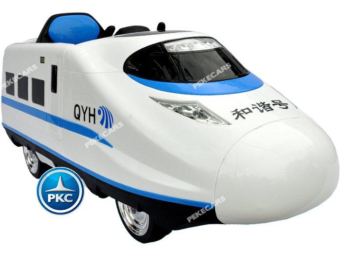 tren eléctrico infantil pekecars 12v blanco 3 width=