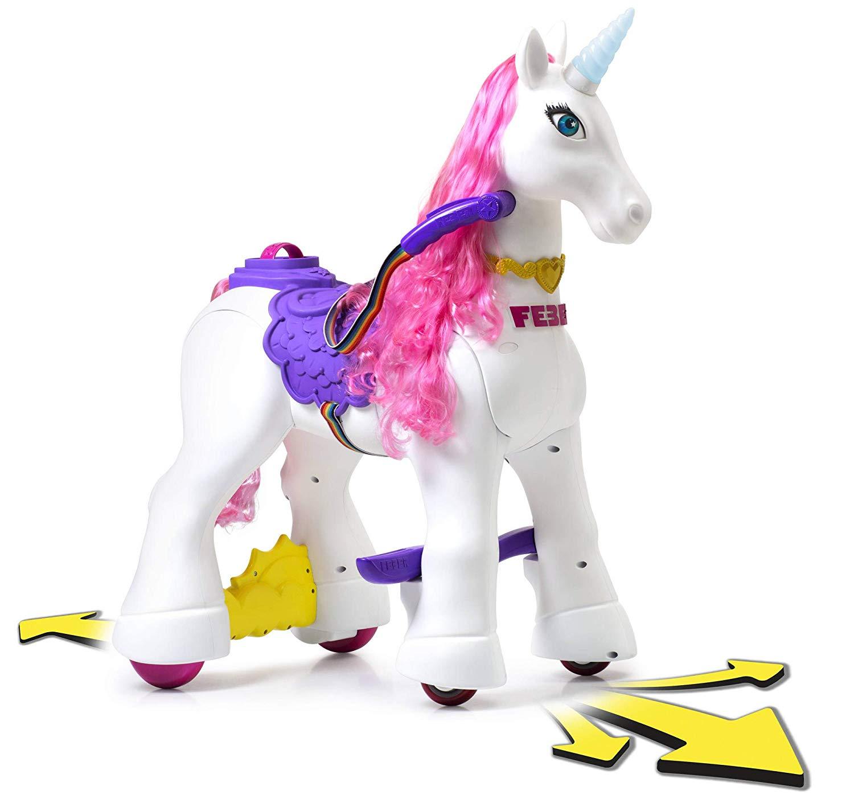 unicornio con melena rosa