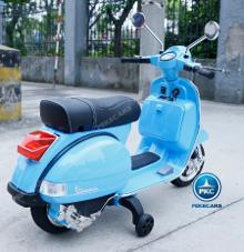 vespa azul electrica para niños