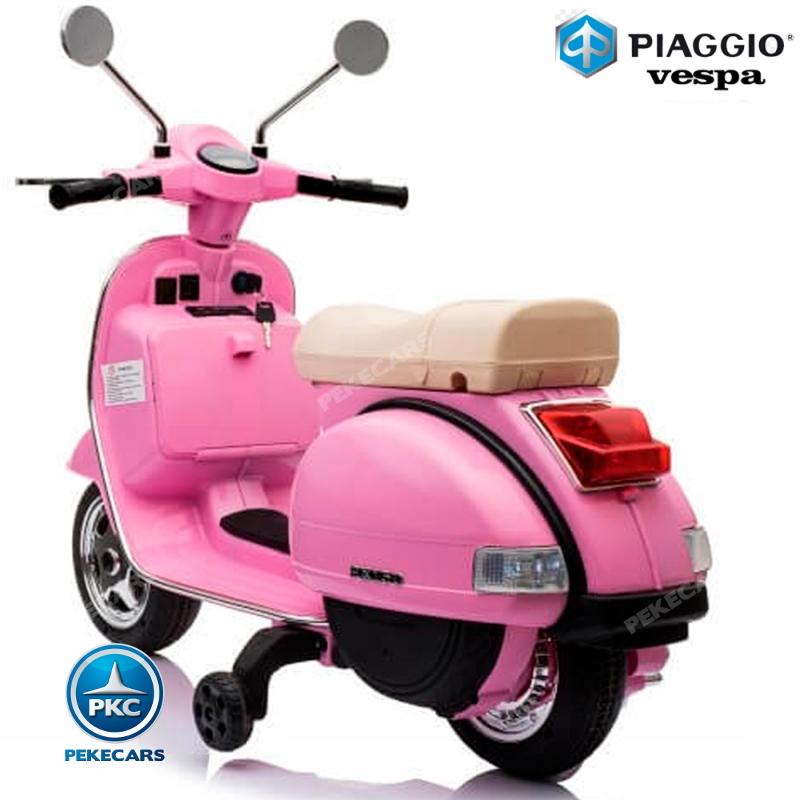 vespa piaggio rosa para niños