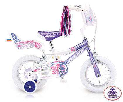 "BICI NI�A 3-6 A�OS BUTTERFLY 12"" INJUSA"