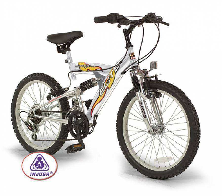 "BICICLETA K-CIBER BIKE 20"" FULL SUSPENSION"