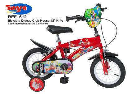 "Bicicleta Disney Club House 12"" para niños"