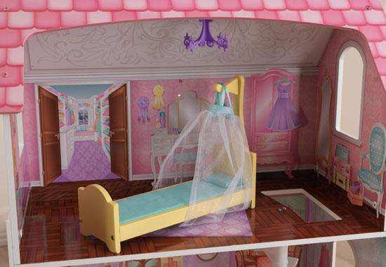 Detalle habitación vestidor de kidkraft casa de muñecas 65179 penelope