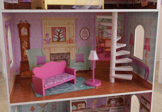 Detalle salón de kidkraft casa de muñecas 65179 penelope