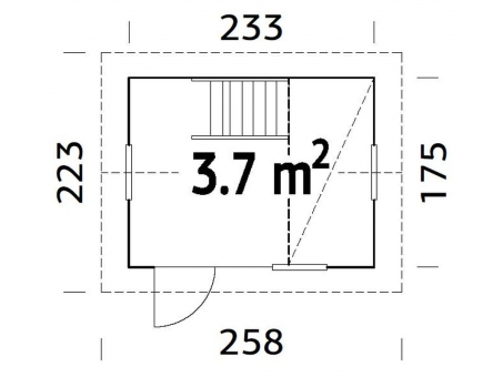 CASITA DE MADERA GRETE MEDIDAS width=